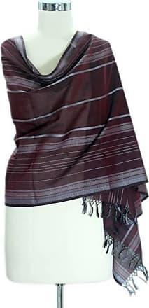 Novica Cotton shawl, Indian Wine