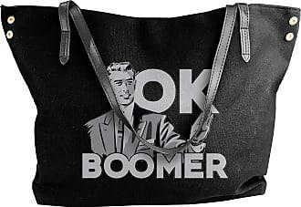 Juju Ok Boomer Womens Classic Shoulder Portable Big Tote Handbag Work Canvas Bags
