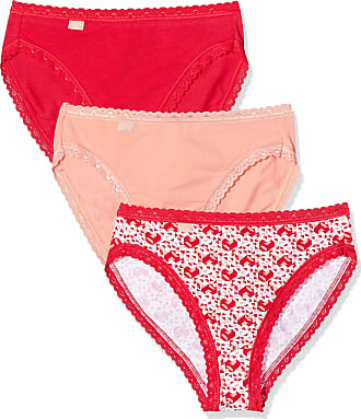 sloggi womens 24/7 Weekend Print Tai Full Brief (Pack of 3), Red (RED - LIGHT COMBINATION M005), 16 (Manufacturer Size: 44)