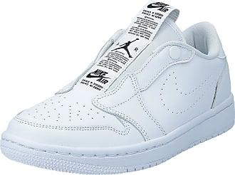 Nike Jordan Womens WMNS 1 Ret Low Slip Fitness Shoes, White (White/Black 000), 7.5 UK