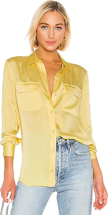 Equipment Slim Signature Top in Yellow