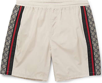 ebf1eec9a8 Gucci Wide-leg Long-length Striped Logo-print Swim Shorts - Ivory
