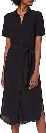 Pieces Womens Pccecilie Ss Long Dress Noos, Black (Black Black), 12 (Size: Medium)