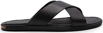Doucal's Fashion Man DU2414MALIUF109 Black Leather Sandals | Spring Summer 20