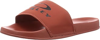 Oakley Mens Ellipse Slide Flip Flop Sandals - Spicy Red - UK 10