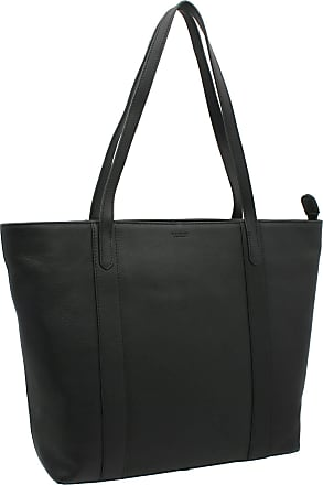 Visconti Platinum Collection Sofia 13in Laptop Leather Tote PLT20 Black