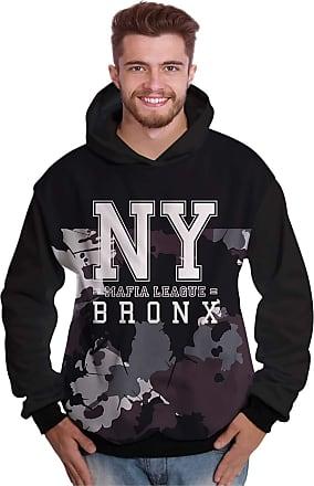 Di Nuevo Blusa de Moletom Bronx New York Mafia Camuflada Swag