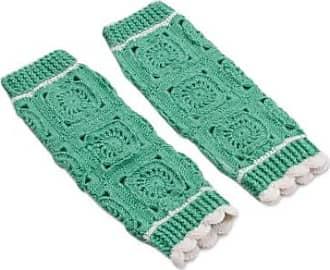 Novica Hand-crocheted alpaca blend leg warmers, Inca Style in Mint