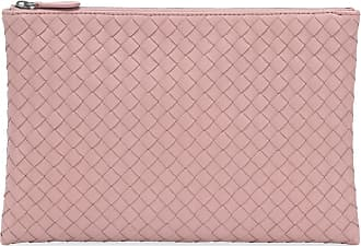 Bottega Veneta Biletto intrecciato leather clutch