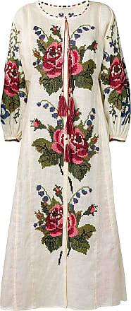 Vita Kin Vestido com bordado floral - Neutro