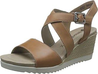 Remonte Damenschuhe D3452 Damenschuhe Sandalen, Sandaletten mit  Klettverschluss, extra weiche Innensohle braun (tan 066c705353