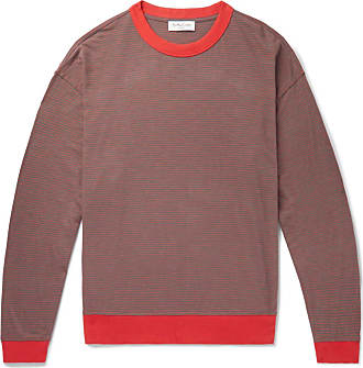 Ymc You Must Create Oversized Striped Cotton-jersey T-shirt - Red