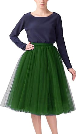 Clearbridal Womens 50s Vintage Tulle Petticoat Tutu Skirt Bridal Petticoat Underskirt for Prom Evening Wedding Party 12021 Emerald
