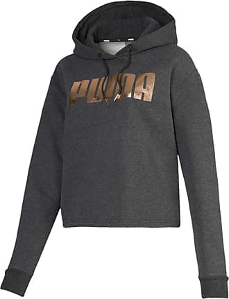 Puma Xtreme Copped Womens Pullover Hooded Sweatshirt Jumper Grey 573156 04 Z41A