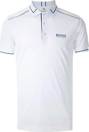 BOSS Camisa polo com logo - Branco