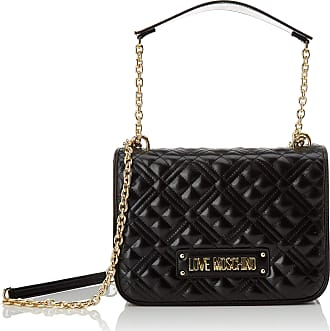 Love Moschino Jc4201pp0a Womens Cross-Body Bag, Black (Black Quilted), 9x19x26 Centimeters (W x H x L)
