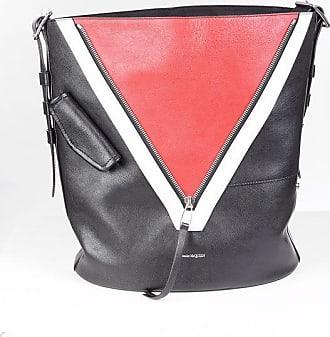 Alexander McQueen Leather bucket bag with zip Größe Unica