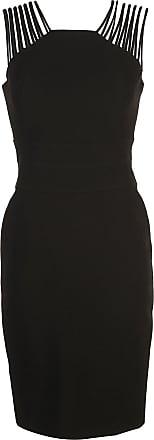 Halston Heritage fitted mini dress - Preto