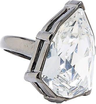 Oscar De La Renta Gallery crystal ring - SILVER
