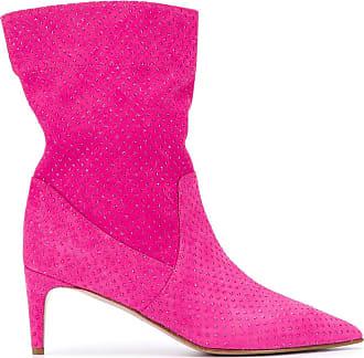 Red Valentino Bota Softies com aplicação de strass - Rosa