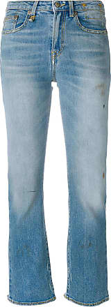 R13 distressed cropped jeans - Blue