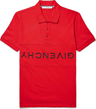 733bcbca Givenchy Slim-fit Logo-embroidered Cotton-piqué Polo Shirt - Red