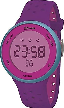 X-Games Relógio Feminino Roxo e Verde X-GAMES Digital Comum Silicone