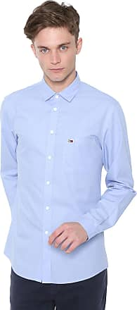 Tommy Jeans Camisa Tommy Jeans Slim Solid Poplin Azul
