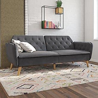Dorel Home Products Novogratz Tallulah Memory Foam Futon, Gray Velvet