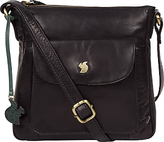 Pure Luxuries London Conkca London Shona Womens 24cm Biodegradable Leather Cross Body Bag with Zip Over Top, 100% Cotton Lining and Adjustable Slimline Leather Strap in Na