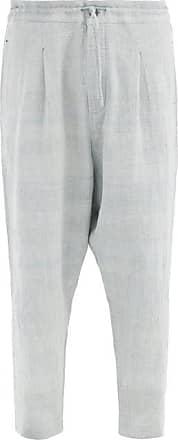 11.11 / eleven eleven 11.11 / Eleven Eleven - Hand-spun Cotton Trousers - Mens - Blue