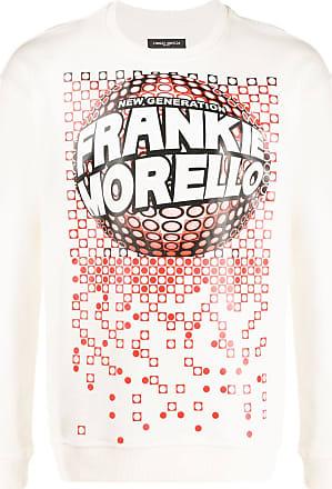 Frankie Morello Suéter mangas longas com estampa de logo - Branco