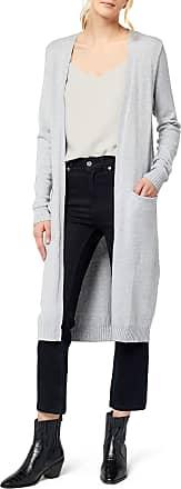 Vila Womens Viril L/s Long Knit Cardigan-noos, Grey (Light Grey Melange), 42 (Size: X-Large)