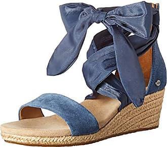 UGG Womens Trina Wedge Sandal, Desert Blue, 9.5 M US