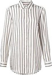 YaYa Streifen und Bluse mit abgerundetem Saum - 10 - White/Blue/Black
