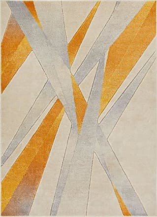 Well Woven RU-91-4 Yellow Lalu Modern Abstract Lines 311 x 53 Area Rug