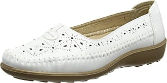 Boulevard Centre Gusset Summer Casual - White - White - size UK Ladies Size 7