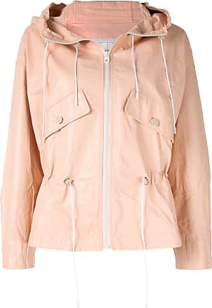 Yves Salomon hooded leather jacket - PINK