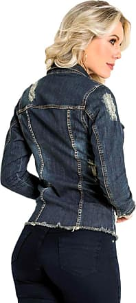 Sawary Jaqueta Jeans Sawary Detalhes Destroyed Azul