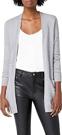 Vila Womens Viril L/s Long Knit Cardigan-noos, Grey (Light Grey), 42 (Size: X-Large)