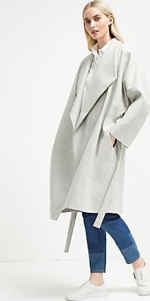 French Connection Platform Felt Drop Shoulder Wrap Coat