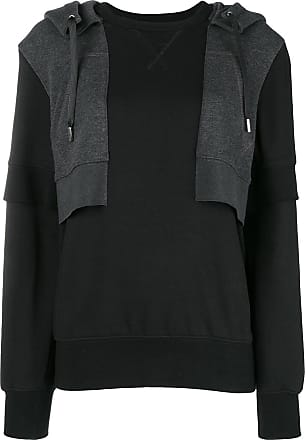 Alexander McQueen contrast hooded sweatshirt - Black