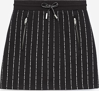 The Kooples Black cotton skirt with zipped pockets - WOMEN