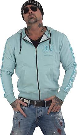 Yakuza Men Zip Hoodie War is Sweet, Size:2XL, Color:Turquoise Melange