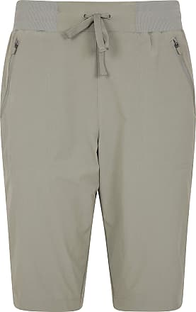 Mountain Warehouse Explorer Womens Long Shorts - Quick Drying Ladies Trek Pants, Lightweight Trousers, UV Protected - Best for Hiking, Camping, Sports & Travelling Khaki