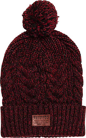 0a197030ef2 Superdry Menss Jacob Beanie Red (Bright Burgundy Twist Ux6)