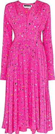 Rotate Vestido midi Tracy com estampa - Rosa