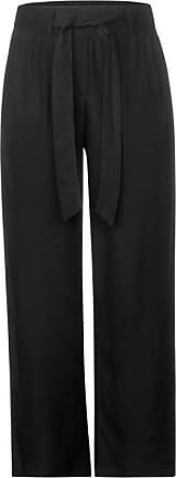 Cecil Wide Leg Hose in Unifarbe - Black