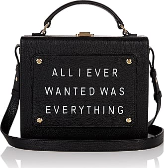 Meli Melo Meli Melo Art Bag All I ever wanted is everything Olivia Steele Black Leather Bag for Women