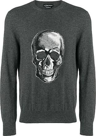 Alexander McQueen skull-intarsia sweater - Grey
